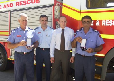 Firefighters receive awards