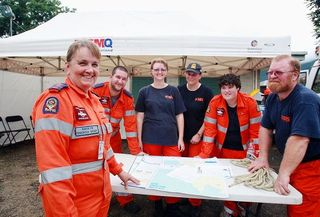 Edmonton SES volunteers. PHOTO: Chris Hyde