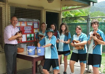 Gordonvale High students chirpier after winning poultry competition