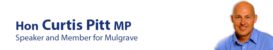 Curtis Pitt MP | Speaker and State Member For Mulgrave