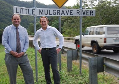Curtis Pitt MP with Main Roads Minister Craig Wallace at the base of the Gillies