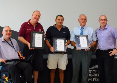 Trio awarded for 25 year JP service