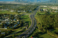 Aerial view of Bruce Highway in Cairns