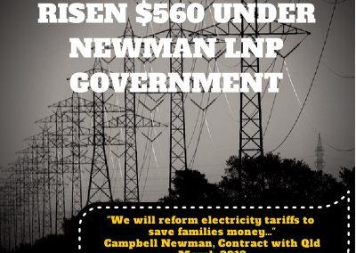 Electricity rises $560 under LNP