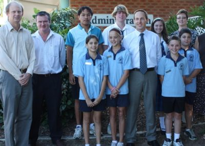 Gordonvale Student leaders support each other