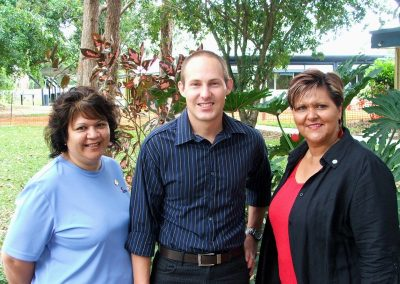 LtoR: Michelle Rollason, Curtis Pitt MP, and Barbara Peeters