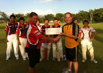 $1,000 cheque handed over to Mulgrave Combined Cricket