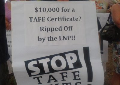 tafe-cuts-rally-banner
