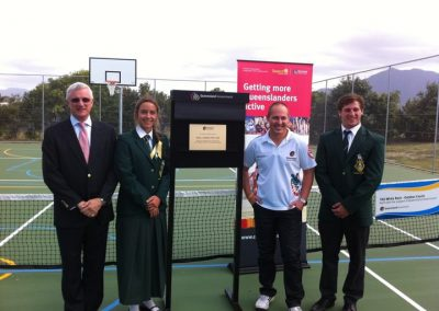 Opening of new outdoor courts at White Rock TAS
