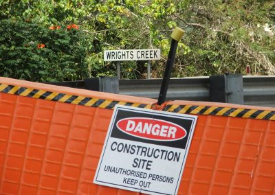 Wrights Creek construction